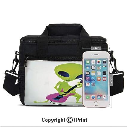 95ae3e9e9b4b Amazon.com: Insulated Lunch Bag Box for Men and Women, Cartoon Alien ...