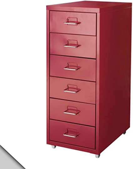 IKEA - Cajonera de casco en ruedas, color rojo: Amazon.es: Oficina ...