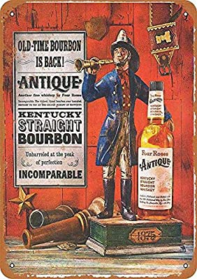 WallDector Four Roses Kentucky Bourbon Iron Poster Painting Tin Sign Vintage Wall Decor for Cafe Bar Pub Home Beer Decoration Crafts