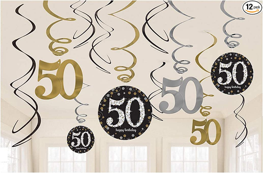 Amazon.com: Sparkling Celebration carteles colgantes para 50 ...