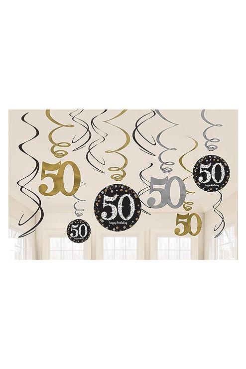 Amscan 670479 - Pack de decoración para cumpleaños de oro ...