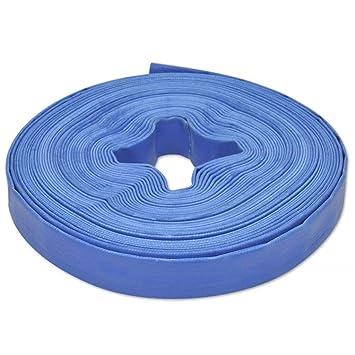 Festnight 25m Flexibler Pvc Wasser Schlauch Flachschlauch