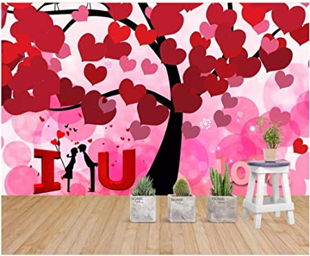 Scmkd 3d Photo Wallpaper Custom Mural Romantic Warm Love Tree Love