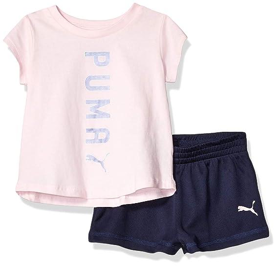 53fa476c69769 Amazon.com: PUMA Baby Girls' Short Set: Clothing