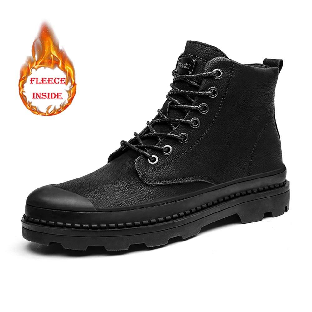 SHENNANJI Herrenmode Ankle Work High Top Stiefel Lässig Runde Kappe Außensohle Winter Faux Fleece Inside Stiefel (konventionell Optional)