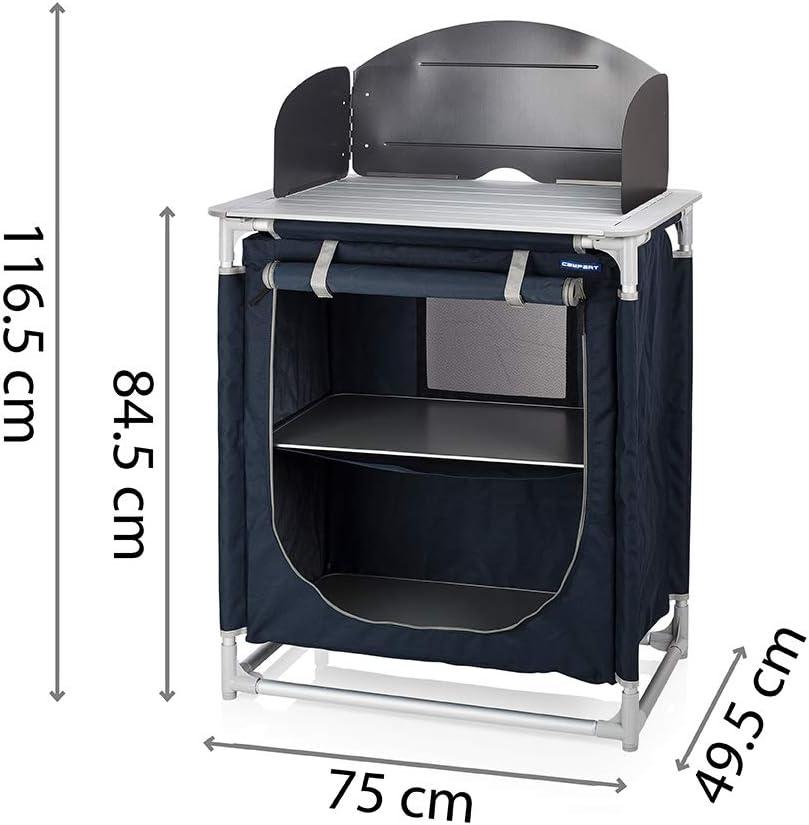 Spazio per bombola del Gas con paravento CAMPART TRAVEL Cucina da Esterni KI-0753 Alicante