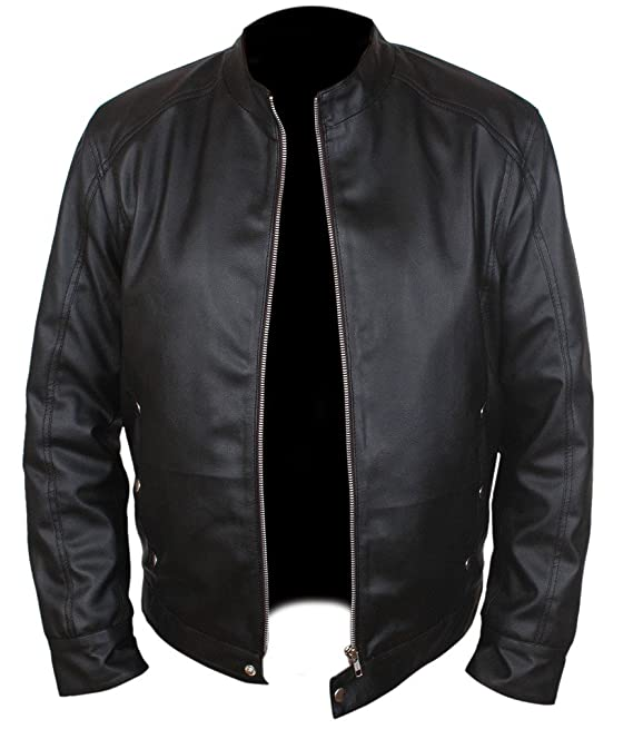b69da9149f04 F&H Men's Limitless Bradley Cooper Eddie Morra Genuine Leather Jacket at  Amazon Men's Clothing store: