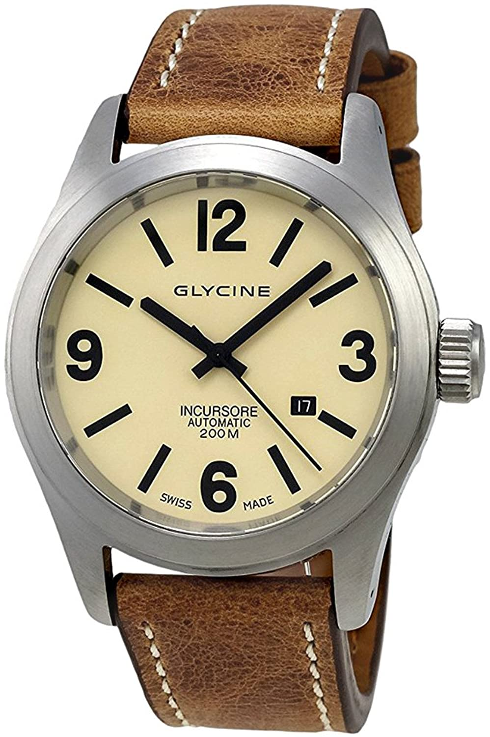 Glycine Incursore Automatic Stainless Steel Mens Strap Swiss Watch Calendar 3874.15 LB7BH