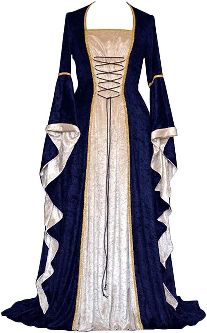 Disfraz Medieval Vestido Manga Larga Vintage Disfraz Renacentista ...