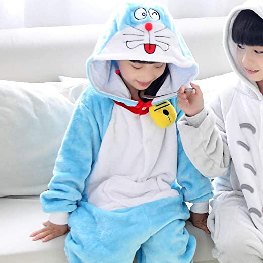 HNBY Niños Kigurumi Winter Cat Flanner Onesie Animal Pijamas ...