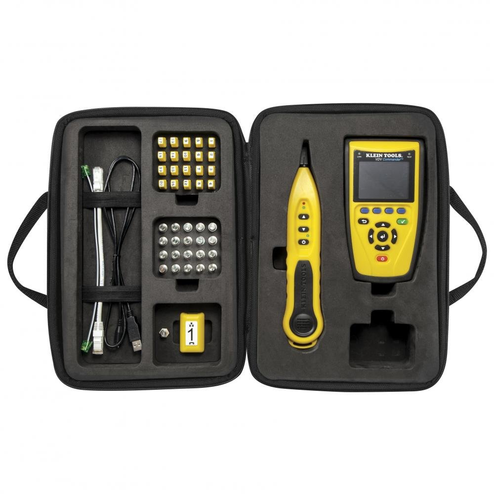Klein Tools VDV501-829 Commander Tester With Test-n-Map Remote Kit, Locate, Test, and Measure Coaxial, Data, and Telephone Cables by Klein Tools