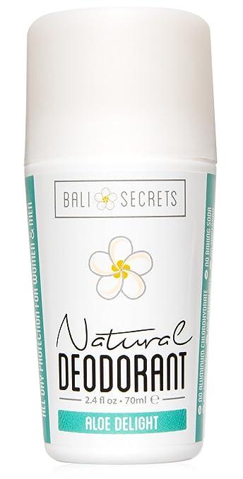 Bali Secrets Natural Deodorant – Organic & Vegan – For Women & Men – All Day Fresh – Strong & Reliable Protection – 2.4 fl.oz/70ml [Scent: Aloe Delight]