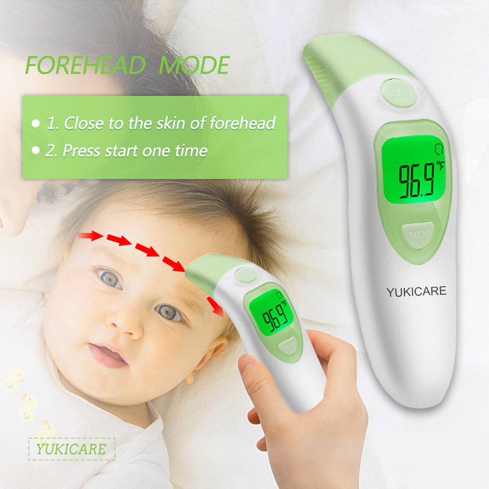 Amazon.com : Ear and Forehead Baby Thermometer,YUKICARE Infrared Digital Clinical Medical Thermometers -FDA and CE Approved Professional Suitable for Child ...