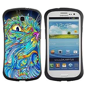 Suave TPU GEL Carcasa Funda Silicona Blando Estuche Caso de protección (para) Samsung Galaxy S3 I9300 / CECELL Phone case / / The Psychedelic Pattern Cat /