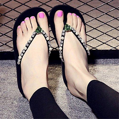 antideslizante moda playa Verano 2018 calzado ocio grueso exterior inferior zapatillas flip clip pie flops Ladies' FLYRCX de Diamond g OETwqdx