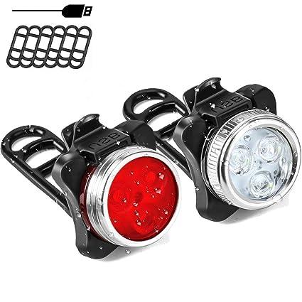 SLZXC - Juego de Luces LED para Bicicleta (120 lúmenes, con ...