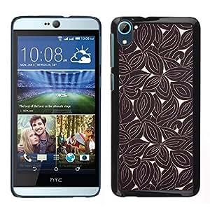 Caucho caso de Shell duro de la cubierta de accesorios de protección BY RAYDREAMMM - HTC Desire D826 - Retro del papel pintado de Brown