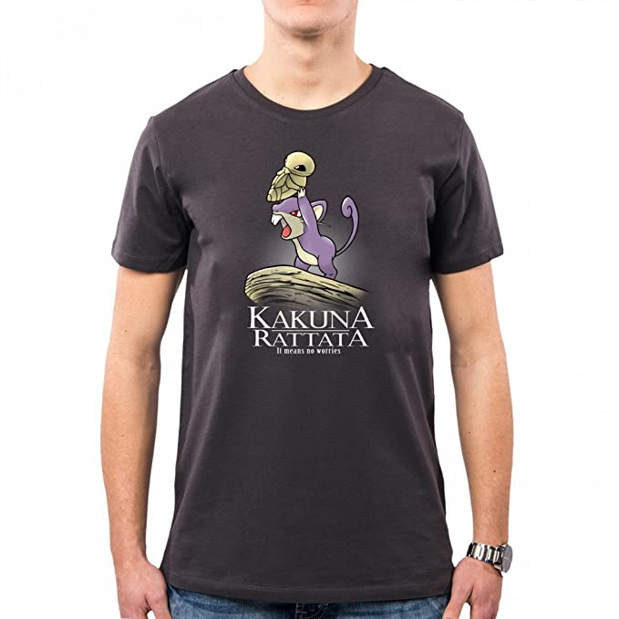 PacDesign Camiseta Hombre Kakuna Rattata Serie TV Geek Funny TV Series Film Nm0048a: Amazon.es: Ropa y accesorios