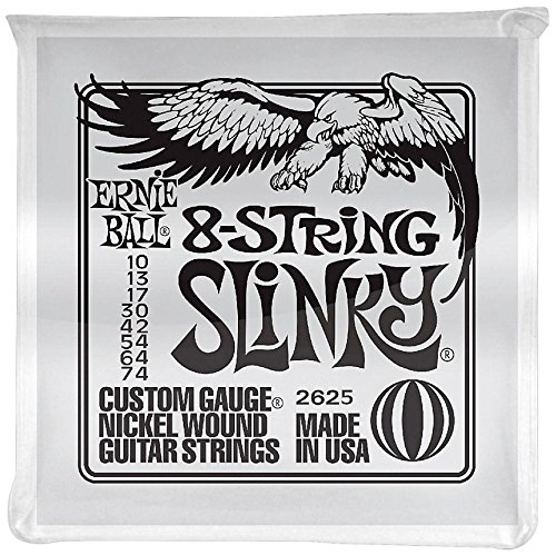 3 Sets of Ernie Ball 2625 8-String Slinky Nickel-Wound Electric Guitar Strings 10-74