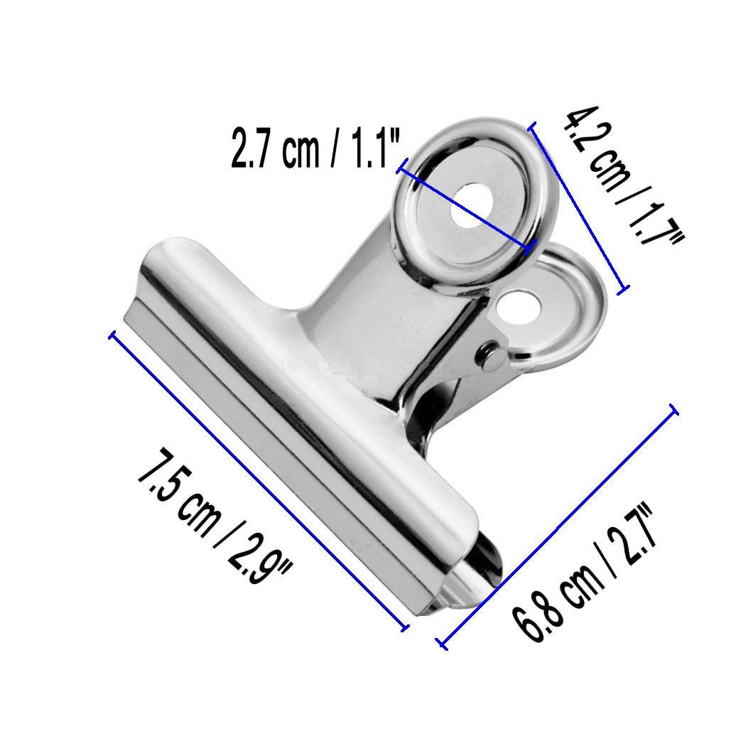 Pisapapeles, de Usos Múltiples Clips de Metal, Abrazaderas de Usos Múltiples de Clip de su Carpeta, para la Oficina, la Escuela y la Familia (4 pcs x 75 ...
