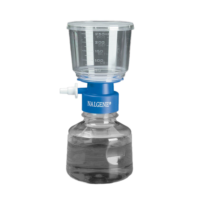 Nalgene MF75 Series Polystyrene Lab Filter Unit, Blue Collar,, 0.45 Micron, 50mm Membrane Diameter, 250mL Capacity (Case of 12) by Nalgene