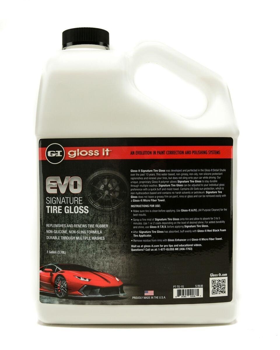 Gloss-it 15128C Signature Tire Gloss - 1 Gallon, (Pack of 4)