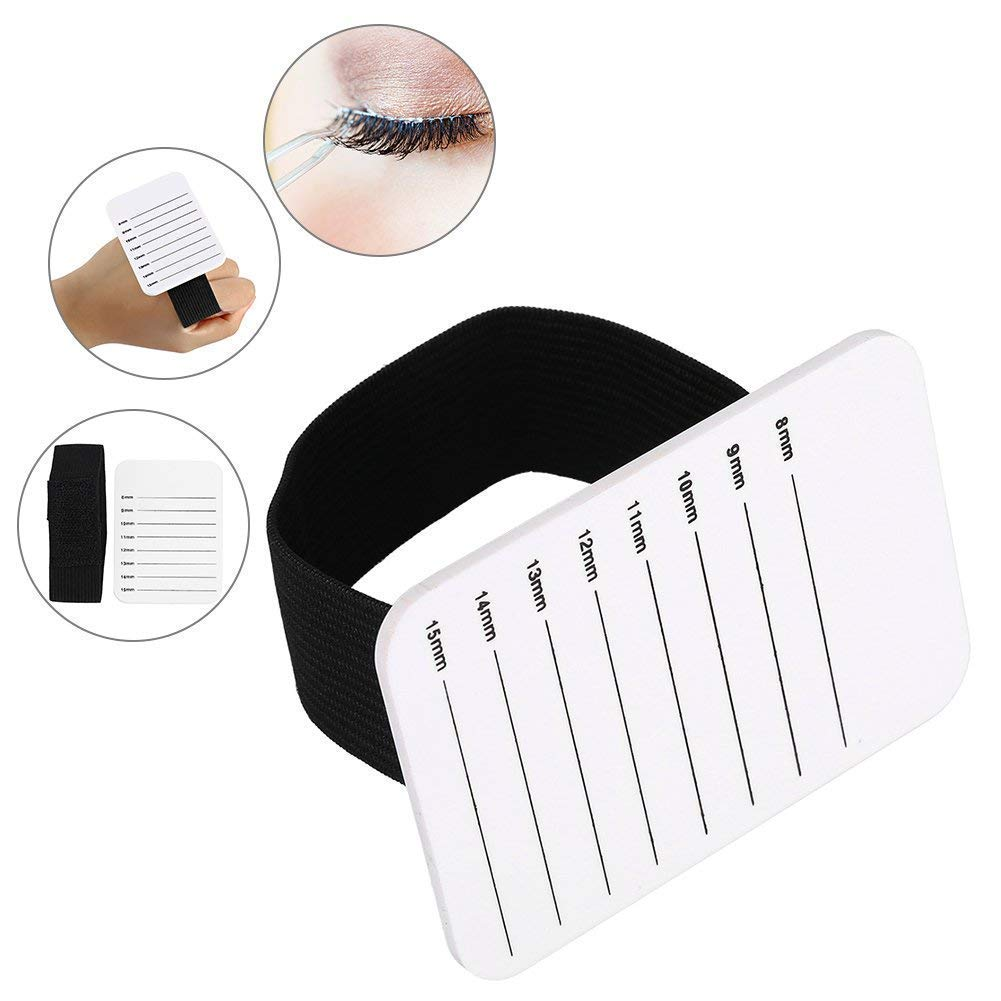 Eye Lash Extension Supplies, Lashes Holder 8-15mm Scale Tray Strip of Lashes Grafting Brrnoo