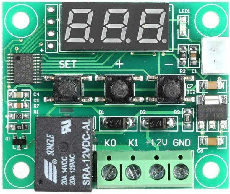 50 /à 110 /° C W1209 DC 12V num/érique Mini Thermostat Contr/ôle de la temp/érature du contr/ôleur commutateur Sensor Module DollaTek