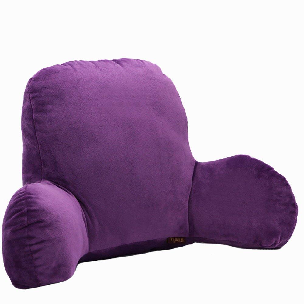 Waist Rest Solid Color Office Seat Cushions Lumbar Support Waist Pillow Home Office School Car Waist pillow Sofa Support Backrest (Purple)