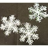 gneric NICE 15pcs White Snowflake Ornaments Christmas Tree Deco