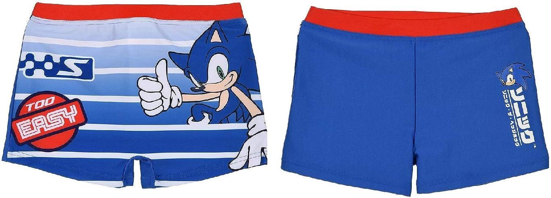 Ba/ñador b/óxer ni/ño Sonic Azul Oscuro Talla 4 a/ños