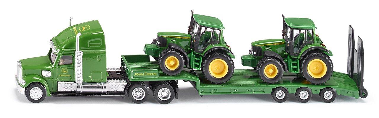 Siku Cargador de baja con los tractores John Deere colores surtidos
