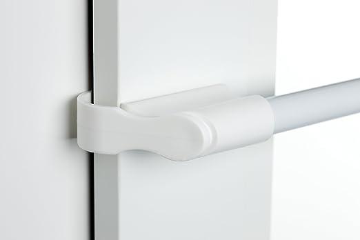 verschiedene Längen Klemmstange Vitragenstange Scheibenstange ausziehbar weiß