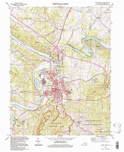 Front Royal VA topo map, 1:24000 scale, 7.5 X 7.5 Minute, Historical, 1994, updated 1997, 26.8 x 21.9 IN - - Valley Va View