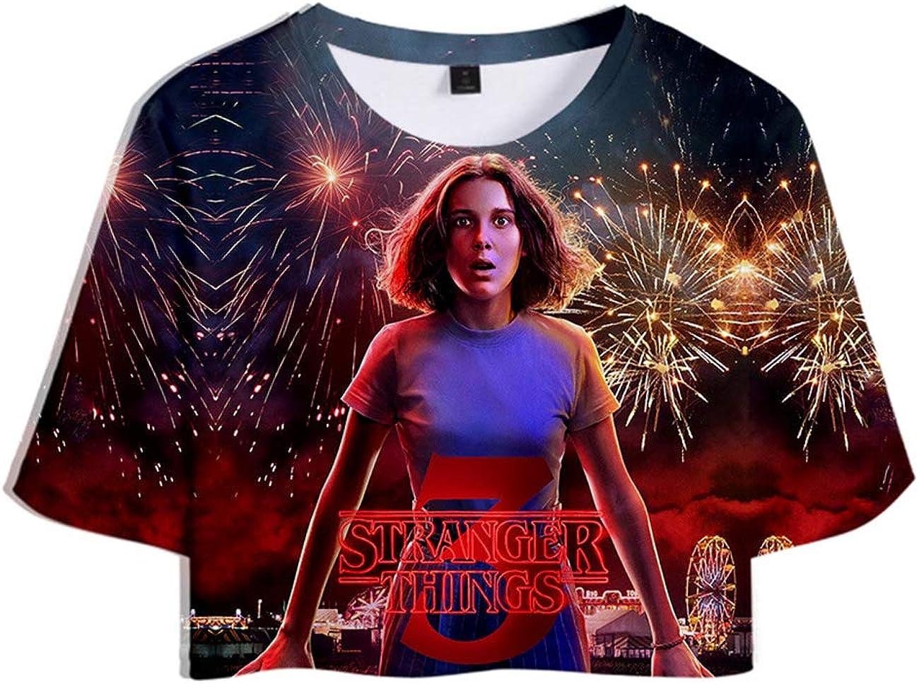 Friends Dont Lie T-Shirt Maniche Corte Estate Tops Tee Camicetta Camicia Blusa Stampa 3D Stranger Things Maglietta per Donna