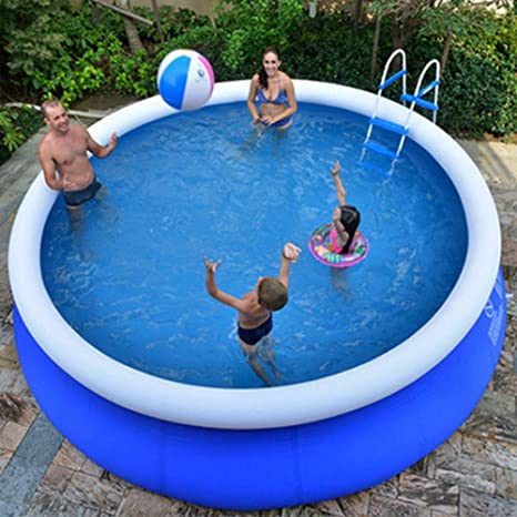 Xm Lz Extra Large Inflatable Pool For Kids Adults Round Pvc Swimming Pool Home Use Blow Up Pool Garden Outdoor Paddling Pools Blue 300x76cm Garden Outdoor