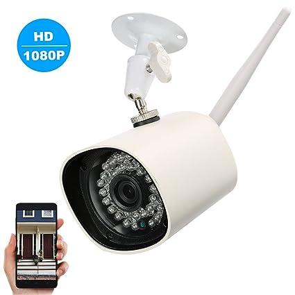 OWSOO Cámara IP Inalámbrico WIFI 1080p HD Cámaras Bala de Vigilancia 36pcs Luces LED Infrarrojas Soporte