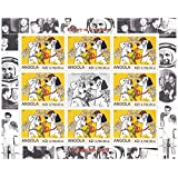 History of Animation 1960s Disney stamps for collectors - 101 Dalmatians - 9 stamps / 2000 / Angola