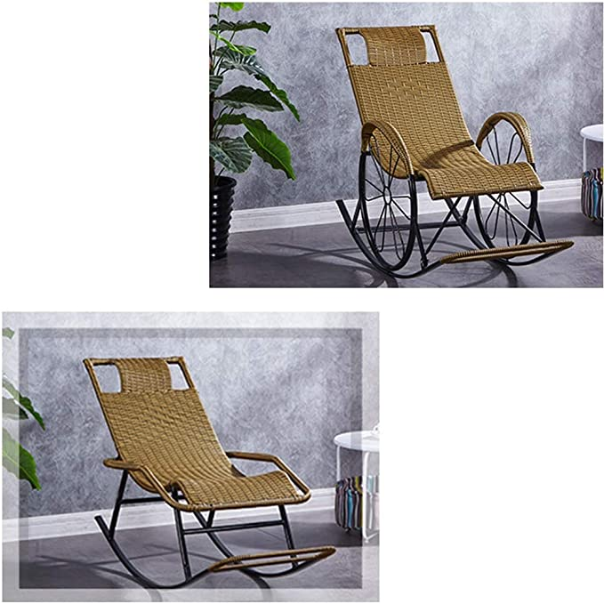 Amazon.com: Bseack_Store Chair Rocking Chair, Lazy Chair Adult Nap ...