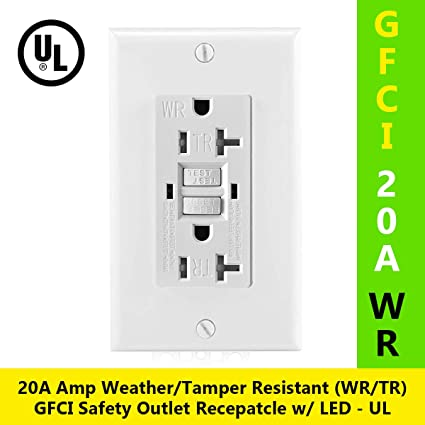 20 Gfci Outlet Electrical Receptacle Wled Indicator 2wires 3. 20 Gfci Outlet Electrical Receptacle Wled Indicator 2wires 3. Wiring. Wiring Single Pole 20a Outlet At Scoala.co