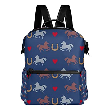 COOSUN Carreras de caballos y herraduras patrón de escuela de la mochila del morral del recorrido Multi: Amazon.es: Equipaje
