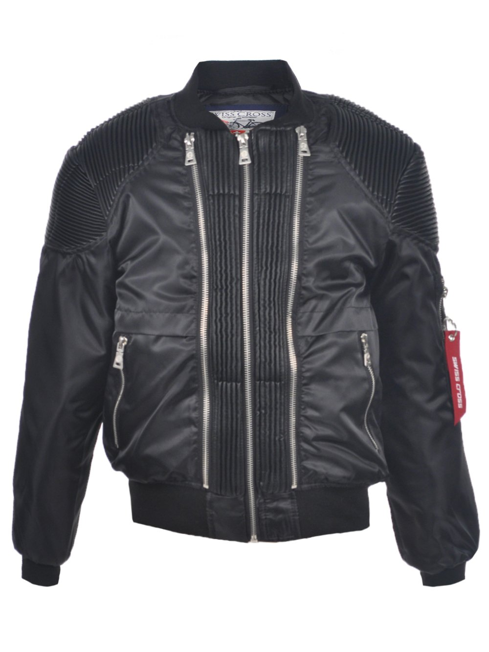 Swiss Cross Big Boys' Moto Flight Flight Jacket - Black, 14-16