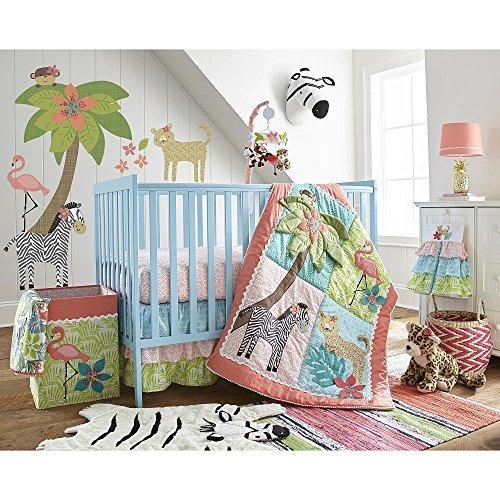 Levtex Baby Oasis Jungle Animal 5 Piece Crib Bedding Set [並行輸入品]   B07HLFMYKQ