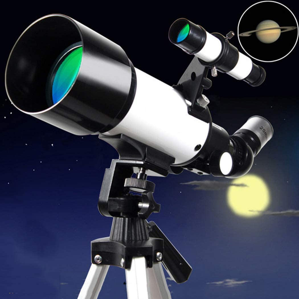 Kids Telescope for Adults Astronomy Beginners,400mm Focal Length 120X Magnification Travel Scope Refractor Telescopes,with Smartphone Adapter,Backpack and Moon Filter