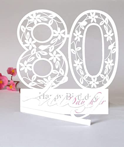 Large Personalised 3d Paper Cut Card For A Mum Grandma Aunt Or Special Friend Amazoncouk Handmade