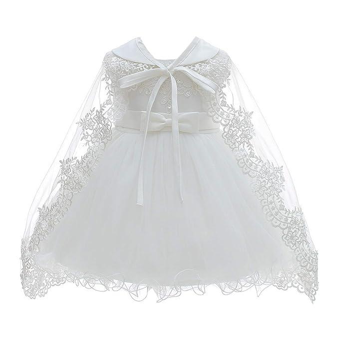 Amazon.com: Vestido de bautizo de sirena de plata para niñas ...