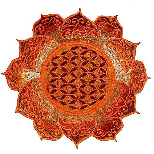 ImZauberwald Flower of Life UV Patch 20cm 8inches Sacred Yantra