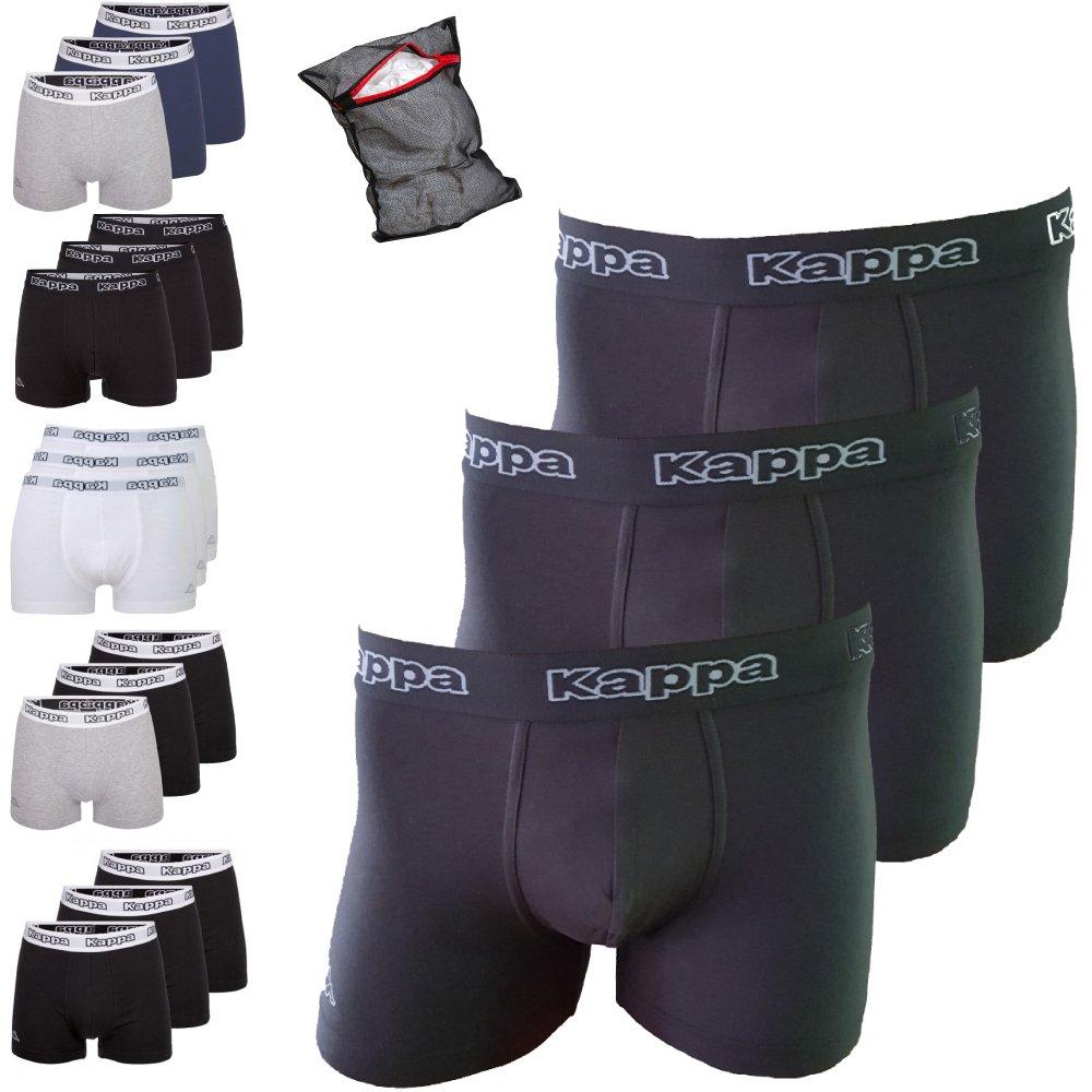 Kappa Boxer Ziatec Edition, Boxer Short, mutande, biancheria intima 3, 6, 9 o Per 12 Pack