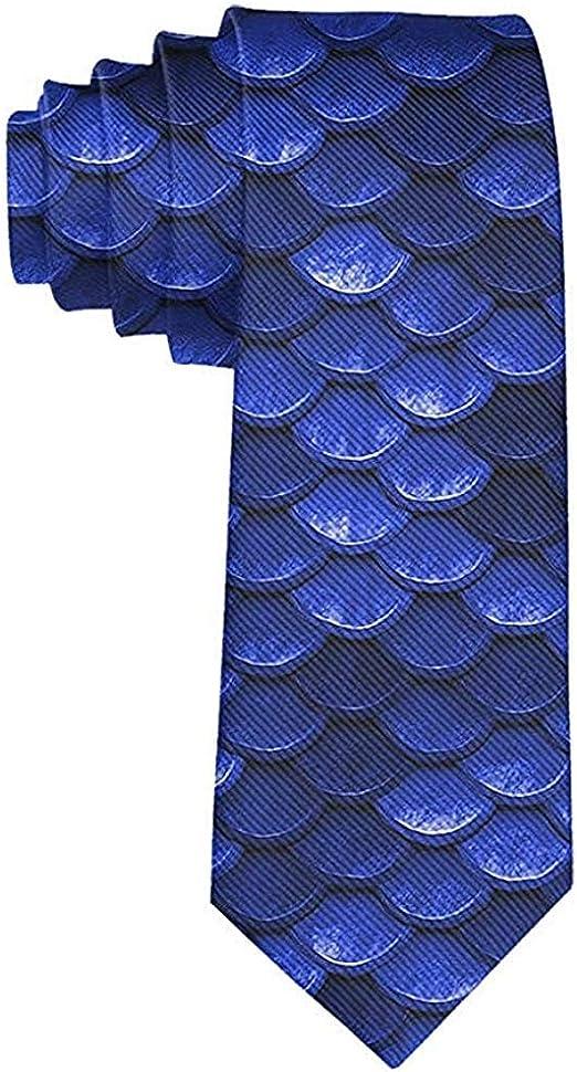 Corbata De Hombre Corbata,Corbatas De Escamas De Pez Sirena Azul ...