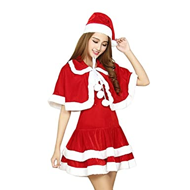 hibuyer santa costume women halloween party costume christmas santa dress